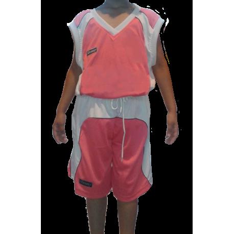 Ensemble Basket Féminin rose et blanc