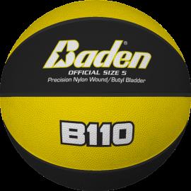 Ballon de basket B110 Jaune et Noir