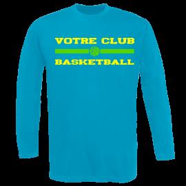 Tee-shirt club basket manches longues