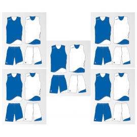 Pack 10 tenues réversibles basket Doppio