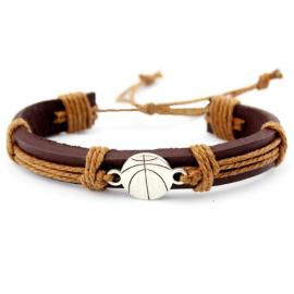 Bracelet cuir basket