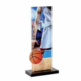 Trophée acrylique basket