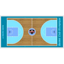 Grand tableau de basket mural personnalisé