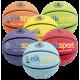 Lot de 6 ballons de basket couleur